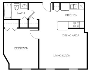 119-Ames-Privilege-Floor-Plan-1-Bedroom-1-Bathroom