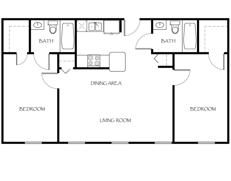 2 bedroom floor plans. 325 Ames Privilege Floor Plan 2 Bedroom  Plans The Apartments at